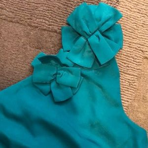 EUC Annabella One Shoulder Green Dress size S